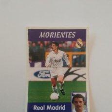 Cromos de Fútbol: 15A 15 A MORIENTES COLOCA REAL MADRID ESTAMPA CROMO STICKER LIGA FÚTBOL PANINI 1997-1998 97-98. Lote 268997854