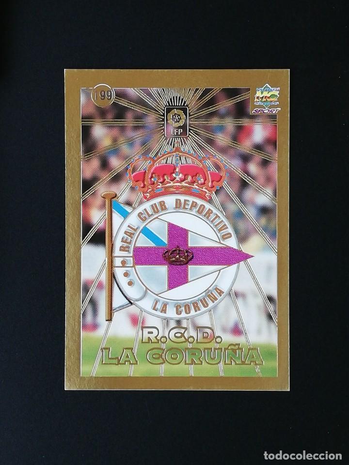 #199 ESCUDO RCD DEPORTIVO LAS FICHAS DE LA LIGA 98 99 MUNDICROMO 1998 1999 (Coleccionismo Deportivo - Álbumes y Cromos de Deportes - Cromos de Fútbol)