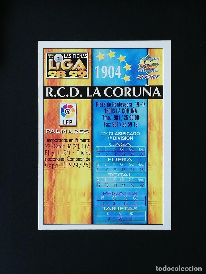 Cromos de Fútbol: #199 ESCUDO RCD DEPORTIVO LAS FICHAS DE LA LIGA 98 99 MUNDICROMO 1998 1999 - Foto 2 - 269183438