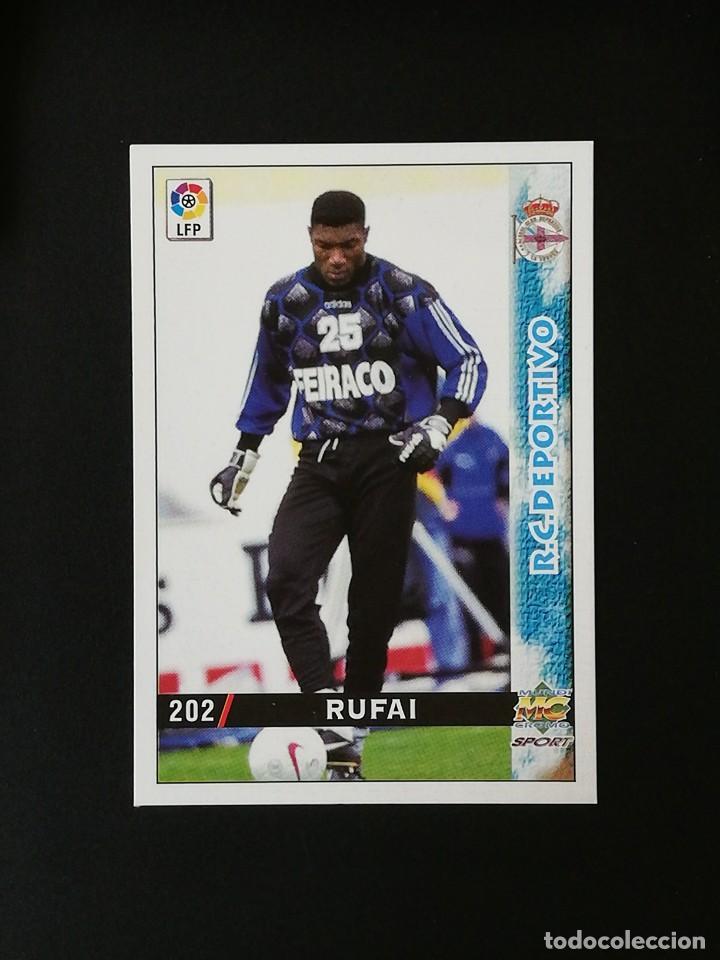 #202 RUFAI RCD DEPORTIVO LAS FICHAS DE LA LIGA 98 99 MUNDICROMO 1998 1999 (Coleccionismo Deportivo - Álbumes y Cromos de Deportes - Cromos de Fútbol)