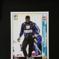 Cromos de Fútbol: #202 RUFAI RCD DEPORTIVO LAS FICHAS DE LA LIGA 98 99 MUNDICROMO 1998 1999. Lote 269183743