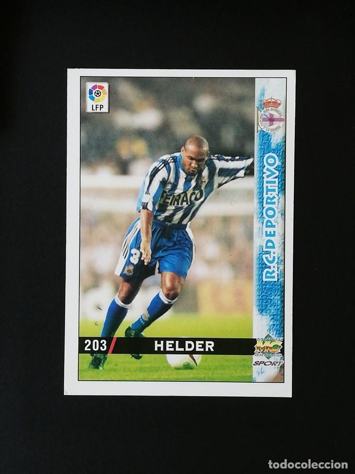 #203 HELDER RCD DEPORTIVO LAS FICHAS DE LA LIGA 98 99 MUNDICROMO 1998 1999 (Coleccionismo Deportivo - Álbumes y Cromos de Deportes - Cromos de Fútbol)