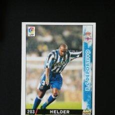 Cromos de Fútbol: #203 HELDER RCD DEPORTIVO LAS FICHAS DE LA LIGA 98 99 MUNDICROMO 1998 1999. Lote 269183818
