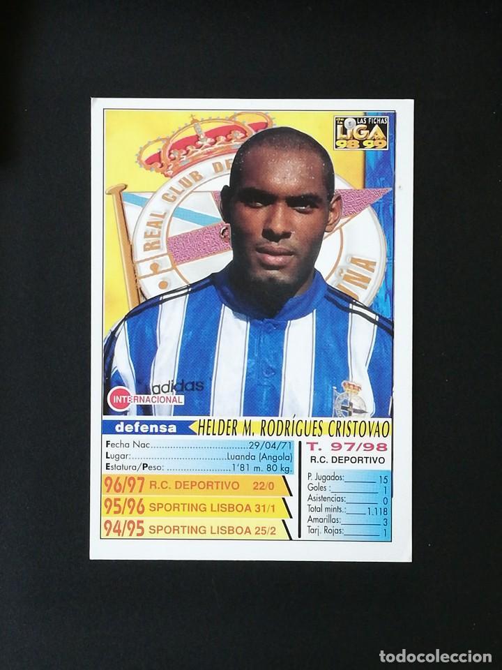 Cromos de Fútbol: #203 HELDER RCD DEPORTIVO LAS FICHAS DE LA LIGA 98 99 MUNDICROMO 1998 1999 - Foto 2 - 269183818