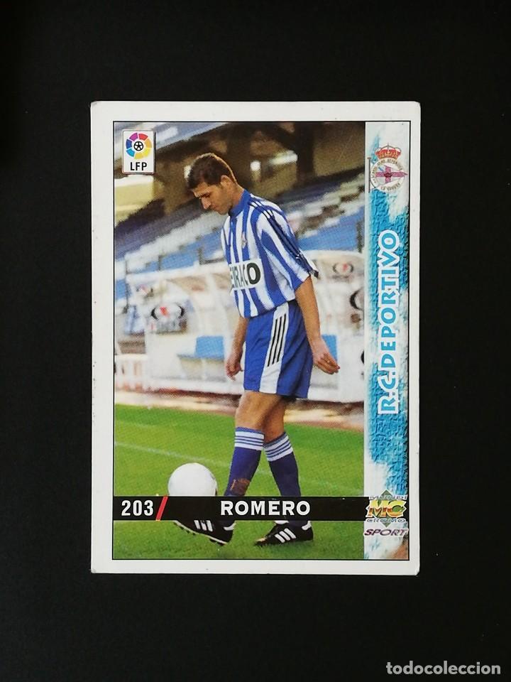 #203 ROMERO RCD DEPORTIVO LAS FICHAS DE LA LIGA 98 99 MUNDICROMO 1998 1999 (Coleccionismo Deportivo - Álbumes y Cromos de Deportes - Cromos de Fútbol)