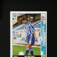 Cromos de Fútbol: #203 ROMERO RCD DEPORTIVO LAS FICHAS DE LA LIGA 98 99 MUNDICROMO 1998 1999. Lote 269184108