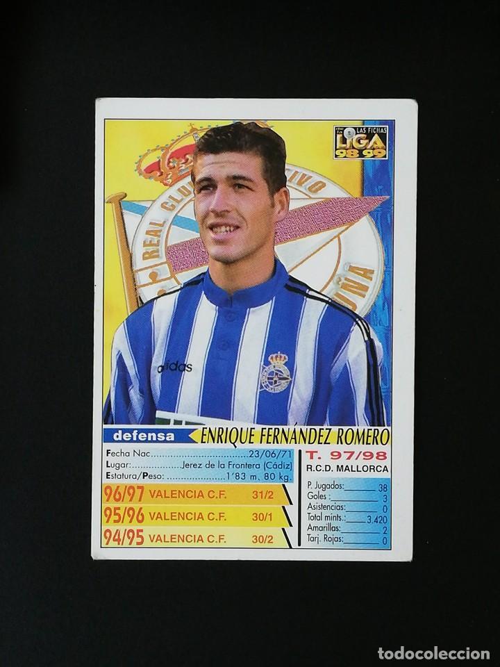 Cromos de Fútbol: #203 ROMERO RCD DEPORTIVO LAS FICHAS DE LA LIGA 98 99 MUNDICROMO 1998 1999 - Foto 2 - 269184108