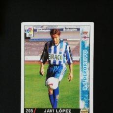 Cromos de Fútbol: #205 JAVI LOPEZ RCD DEPORTIVO LAS FICHAS DE LA LIGA 98 99 MUNDICROMO 1998 1999. Lote 269184403