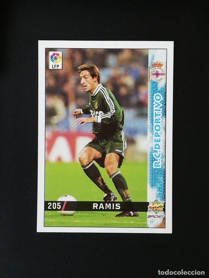 #205 RAMIS RCD DEPORTIVO LAS FICHAS DE LA LIGA 98 99 MUNDICROMO 1998 1999 (Coleccionismo Deportivo - Álbumes y Cromos de Deportes - Cromos de Fútbol)