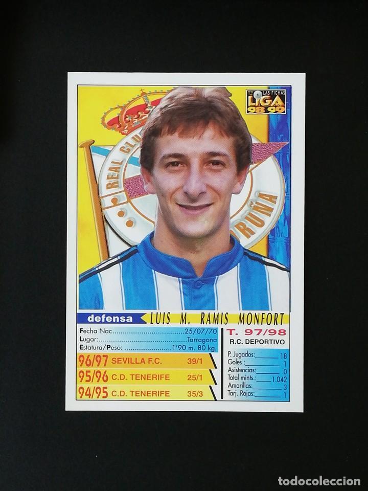 Cromos de Fútbol: #205 RAMIS RCD DEPORTIVO LAS FICHAS DE LA LIGA 98 99 MUNDICROMO 1998 1999 - Foto 2 - 269184488