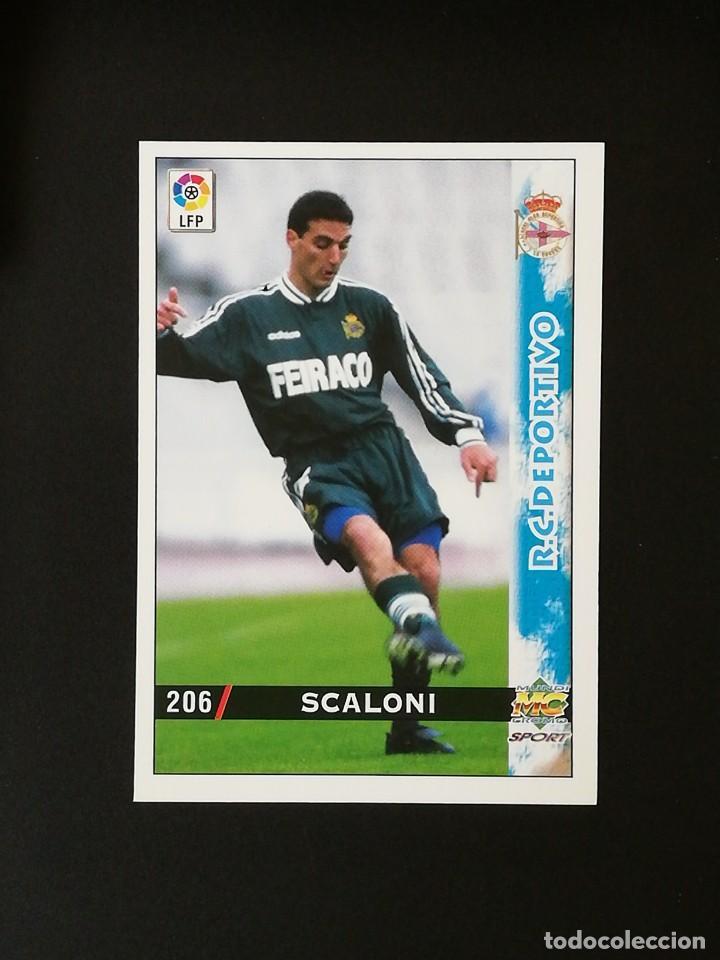 #206 ESCALONI RCD DEPORTIVO LAS FICHAS DE LA LIGA 98 99 MUNDICROMO 1998 1999 (Coleccionismo Deportivo - Álbumes y Cromos de Deportes - Cromos de Fútbol)