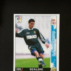 Cromos de Fútbol: #206 ESCALONI RCD DEPORTIVO LAS FICHAS DE LA LIGA 98 99 MUNDICROMO 1998 1999. Lote 269184603