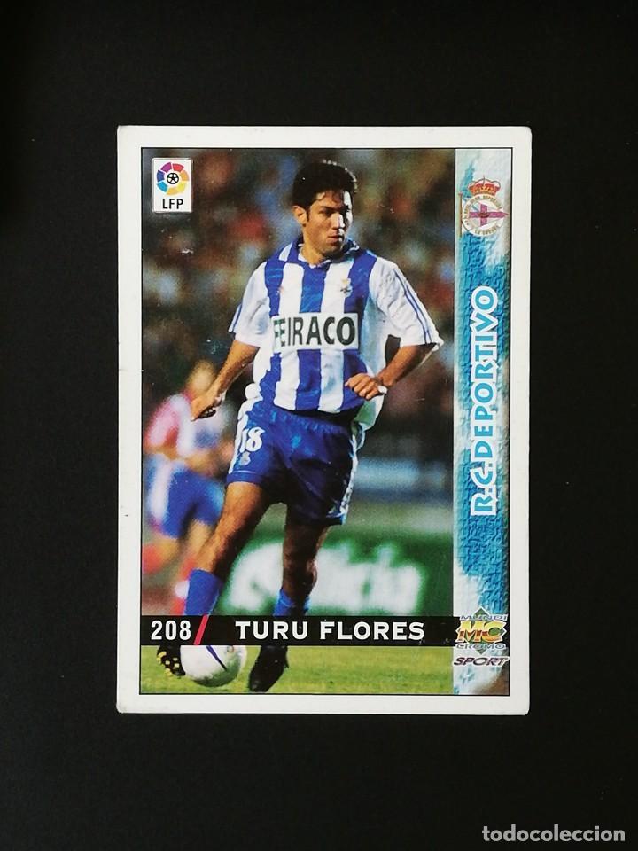 #208 TURU FLORES RCD DEPORTIVO LAS FICHAS DE LA LIGA 98 99 MUNDICROMO 1998 1999 (Coleccionismo Deportivo - Álbumes y Cromos de Deportes - Cromos de Fútbol)