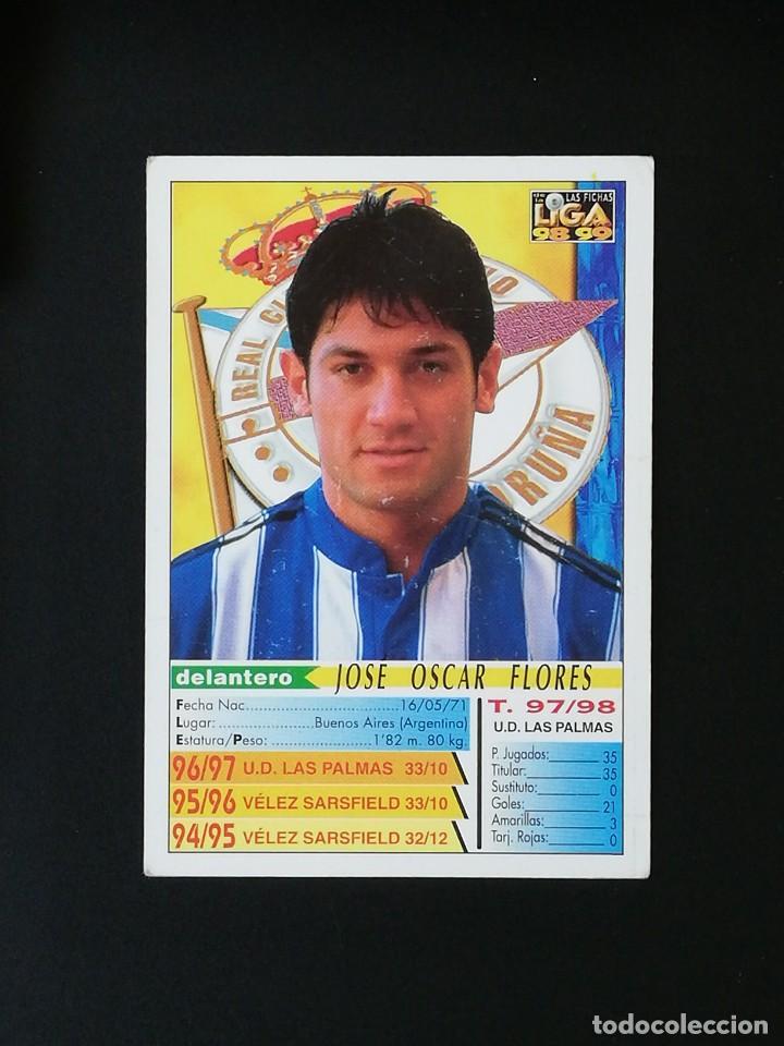 Cromos de Fútbol: #208 TURU FLORES RCD DEPORTIVO LAS FICHAS DE LA LIGA 98 99 MUNDICROMO 1998 1999 - Foto 2 - 269184828