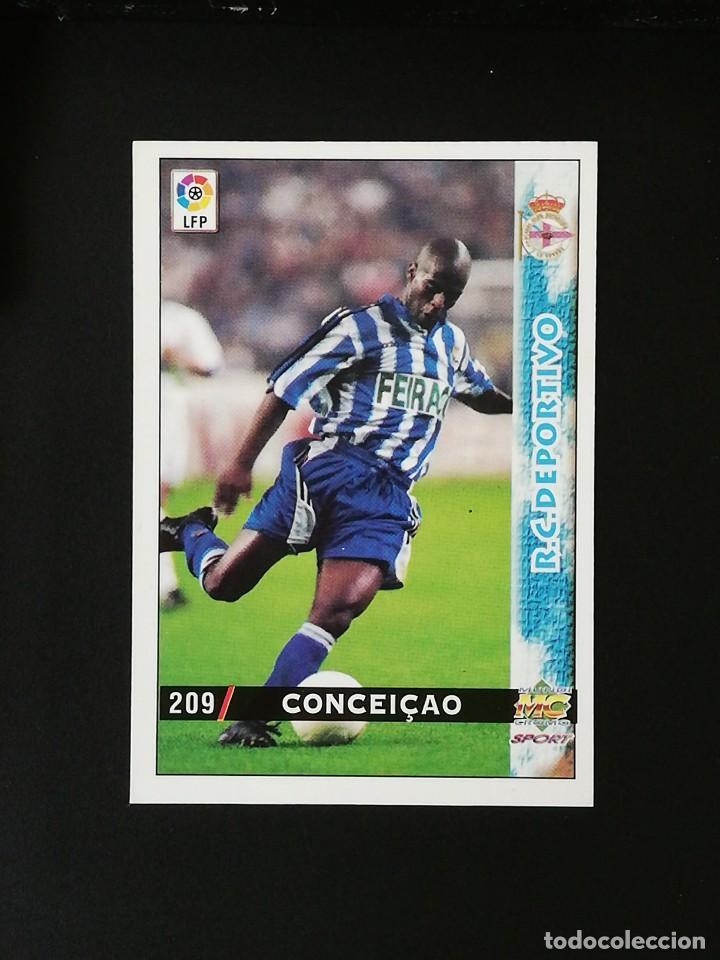 #209 CONCEIÇAO RCD DEPORTIVO LAS FICHAS DE LA LIGA 98 99 MUNDICROMO 1998 1999 (Coleccionismo Deportivo - Álbumes y Cromos de Deportes - Cromos de Fútbol)