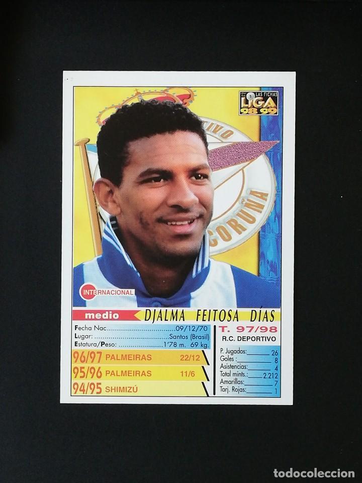 Cromos de Fútbol: #210 DJALMINHA RCD DEPORTIVO LAS FICHAS DE LA LIGA 98 99 MUNDICROMO 1998 1999 - Foto 2 - 269185038