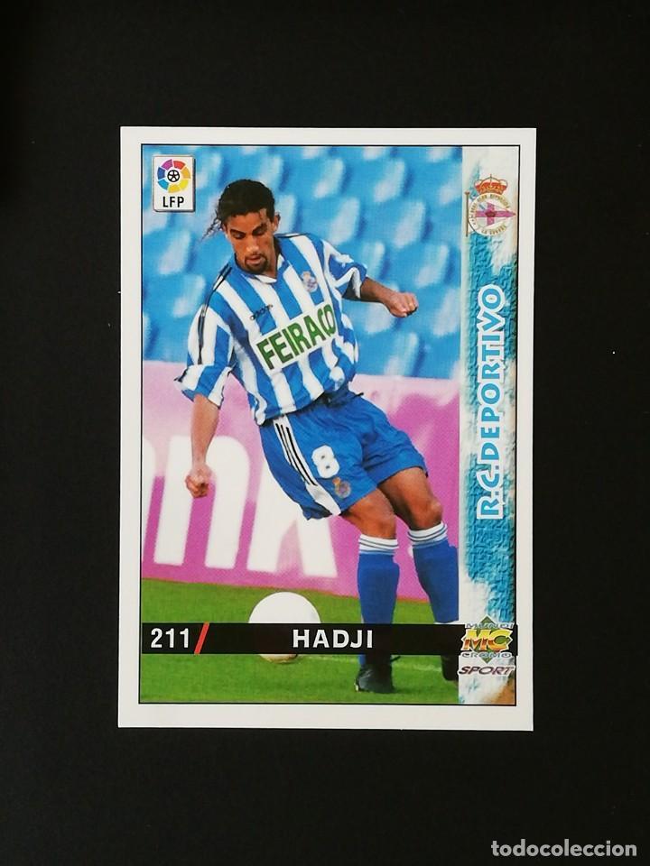 #211 HADJI RCD DEPORTIVO LAS FICHAS DE LA LIGA 98 99 MUNDICROMO 1998 1999 (Coleccionismo Deportivo - Álbumes y Cromos de Deportes - Cromos de Fútbol)