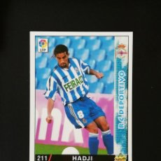 Cromos de Fútbol: #211 HADJI RCD DEPORTIVO LAS FICHAS DE LA LIGA 98 99 MUNDICROMO 1998 1999. Lote 269185143