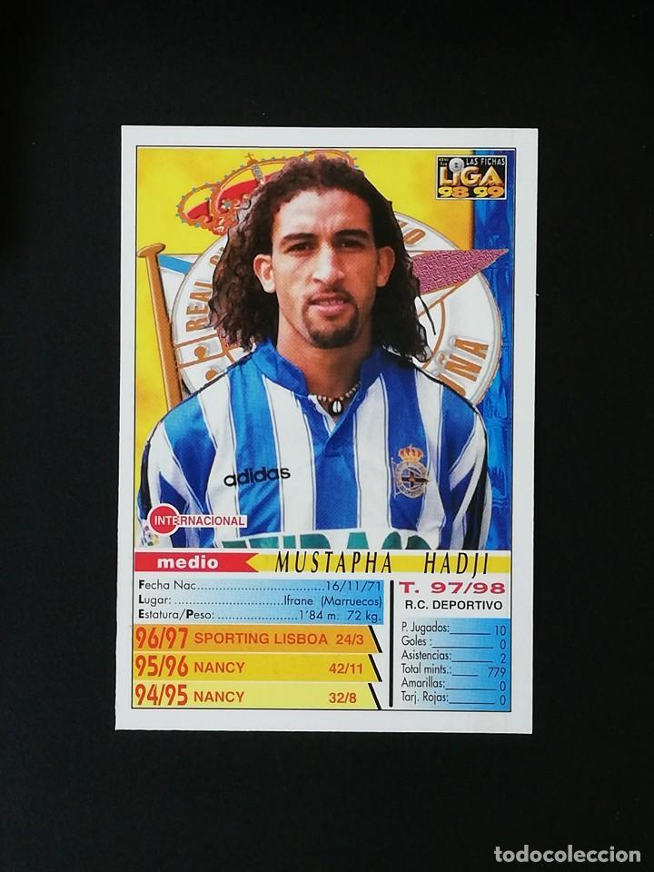 Cromos de Fútbol: #211 HADJI RCD DEPORTIVO LAS FICHAS DE LA LIGA 98 99 MUNDICROMO 1998 1999 - Foto 2 - 269185143