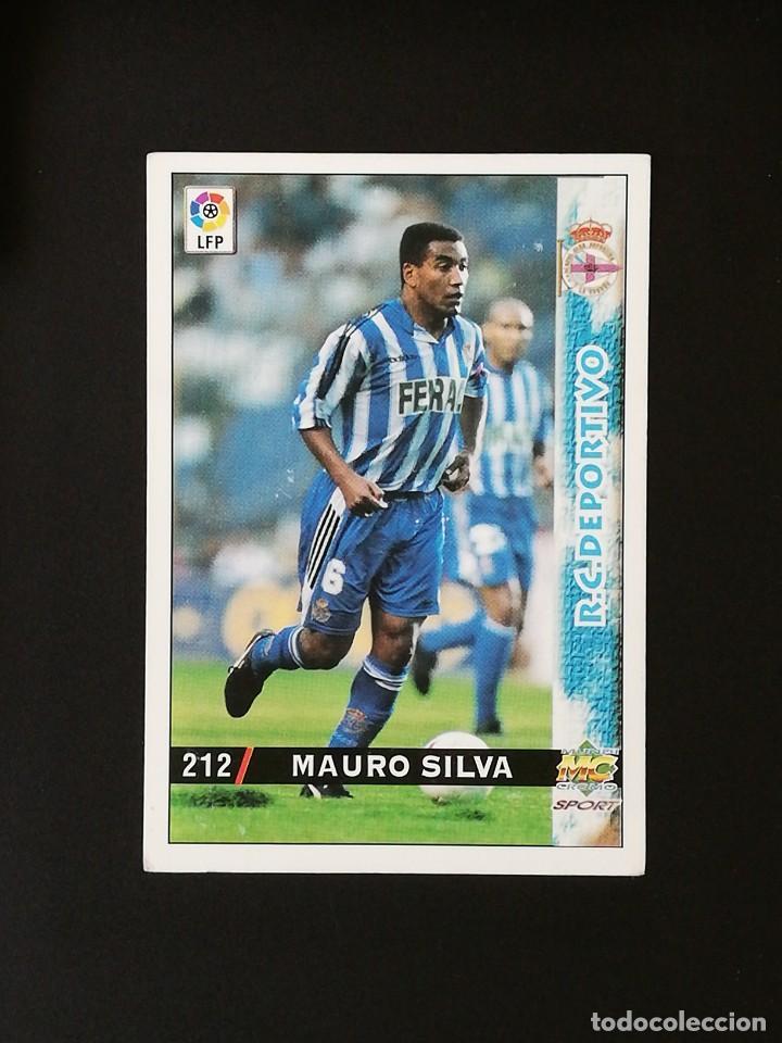 #212 MAURO SILVA RCD DEPORTIVO LAS FICHAS DE LA LIGA 98 99 MUNDICROMO 1998 1999 (Coleccionismo Deportivo - Álbumes y Cromos de Deportes - Cromos de Fútbol)