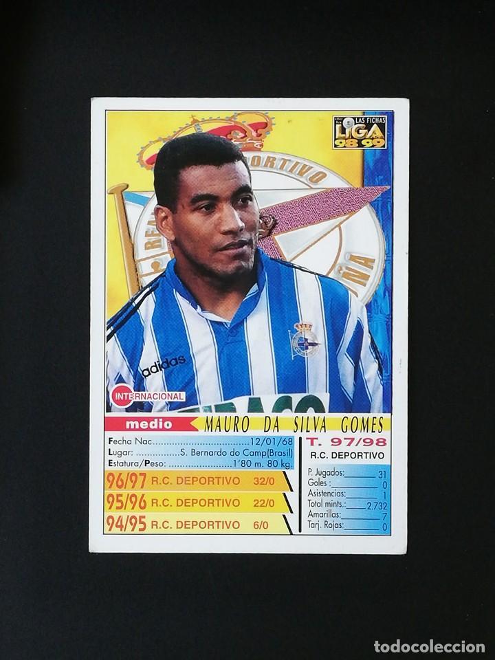 Cromos de Fútbol: #212 MAURO SILVA RCD DEPORTIVO LAS FICHAS DE LA LIGA 98 99 MUNDICROMO 1998 1999 - Foto 2 - 269185253