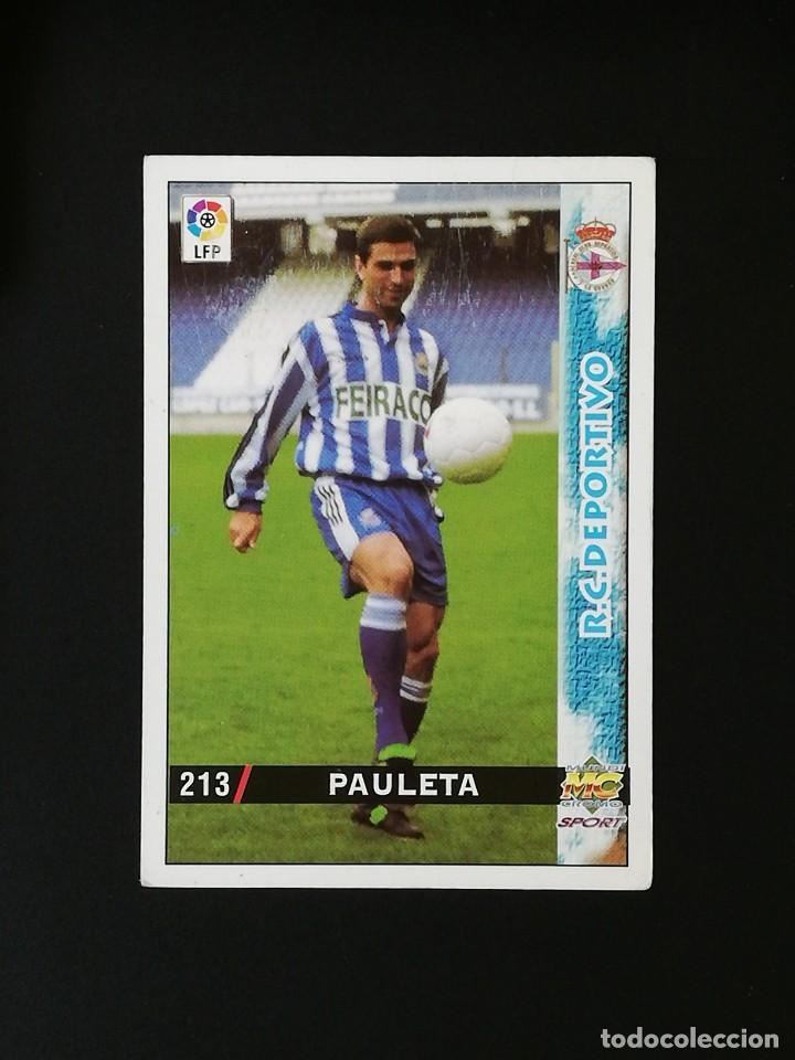 #213 PAULETA RCD DEPORTIVO LAS FICHAS DE LA LIGA 98 99 MUNDICROMO 1998 1999 (Coleccionismo Deportivo - Álbumes y Cromos de Deportes - Cromos de Fútbol)