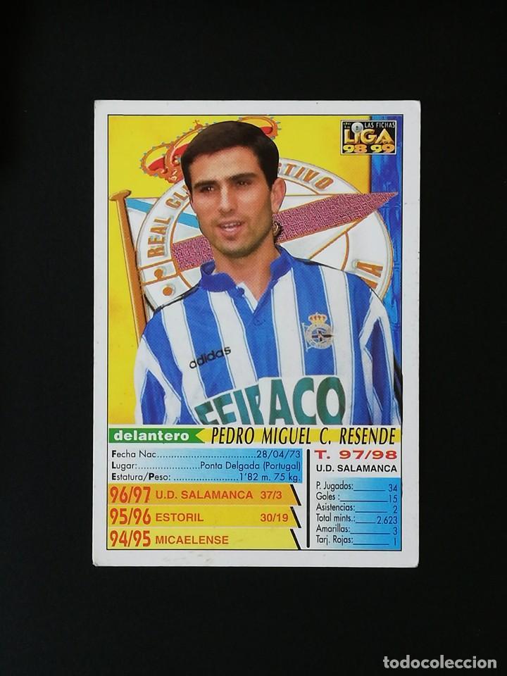 Cromos de Fútbol: #213 PAULETA RCD DEPORTIVO LAS FICHAS DE LA LIGA 98 99 MUNDICROMO 1998 1999 - Foto 2 - 269185358