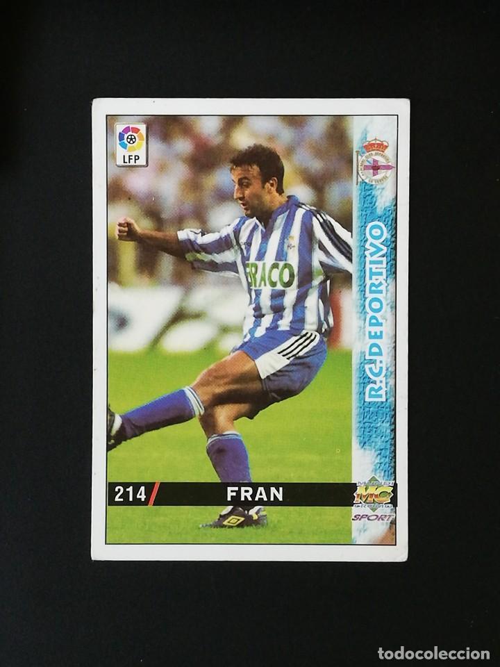 #214 FRAN RCD DEPORTIVO LAS FICHAS DE LA LIGA 98 99 MUNDICROMO 1998 1999 (Coleccionismo Deportivo - Álbumes y Cromos de Deportes - Cromos de Fútbol)
