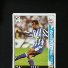 Cromos de Fútbol: #214 FRAN RCD DEPORTIVO LAS FICHAS DE LA LIGA 98 99 MUNDICROMO 1998 1999. Lote 269185428