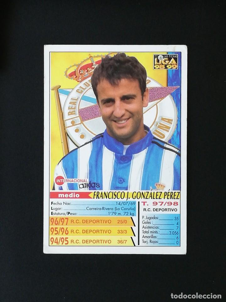 Cromos de Fútbol: #214 FRAN RCD DEPORTIVO LAS FICHAS DE LA LIGA 98 99 MUNDICROMO 1998 1999 - Foto 2 - 269185428