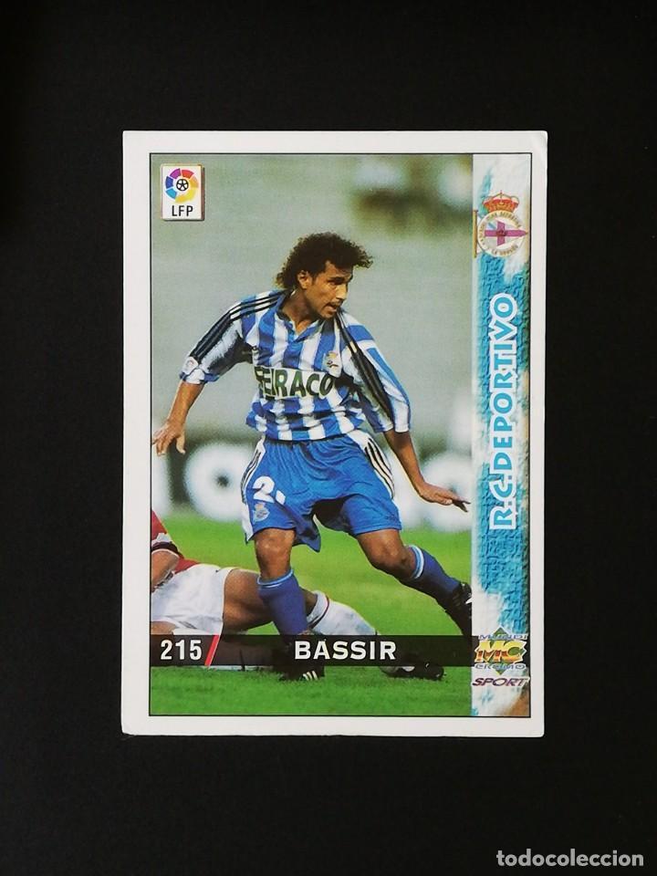 #215 BASSIR RCD DEPORTIVO LAS FICHAS DE LA LIGA 98 99 MUNDICROMO 1998 1999 (Coleccionismo Deportivo - Álbumes y Cromos de Deportes - Cromos de Fútbol)