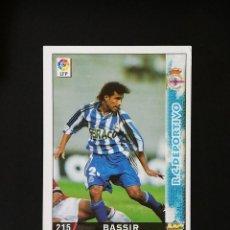 Cromos de Fútbol: #215 BASSIR RCD DEPORTIVO LAS FICHAS DE LA LIGA 98 99 MUNDICROMO 1998 1999. Lote 269185513