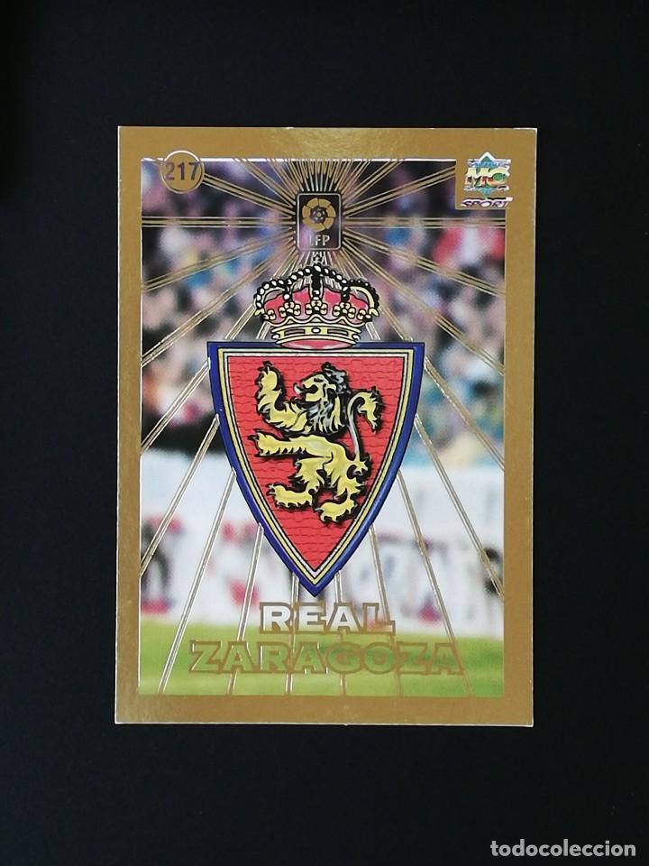 #217 ESCUDO REAL ZARAGOZA LAS FICHAS DE LA LIGA 98 99 MUNDICROMO 1998 1999 (Coleccionismo Deportivo - Álbumes y Cromos de Deportes - Cromos de Fútbol)