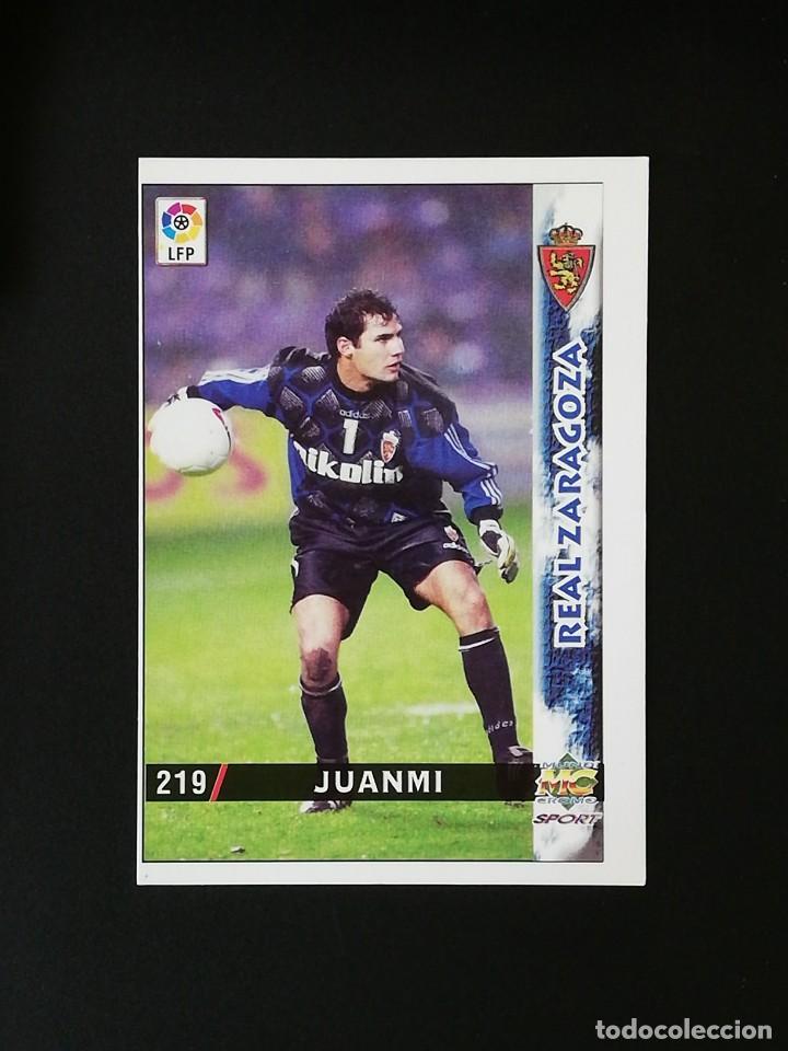 #219 JUANMI REAL ZARAGOZA LAS FICHAS DE LA LIGA 98 99 MUNDICROMO 1998 1999 (Coleccionismo Deportivo - Álbumes y Cromos de Deportes - Cromos de Fútbol)