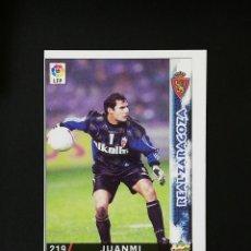 Cromos de Fútbol: #219 JUANMI REAL ZARAGOZA LAS FICHAS DE LA LIGA 98 99 MUNDICROMO 1998 1999. Lote 269186208