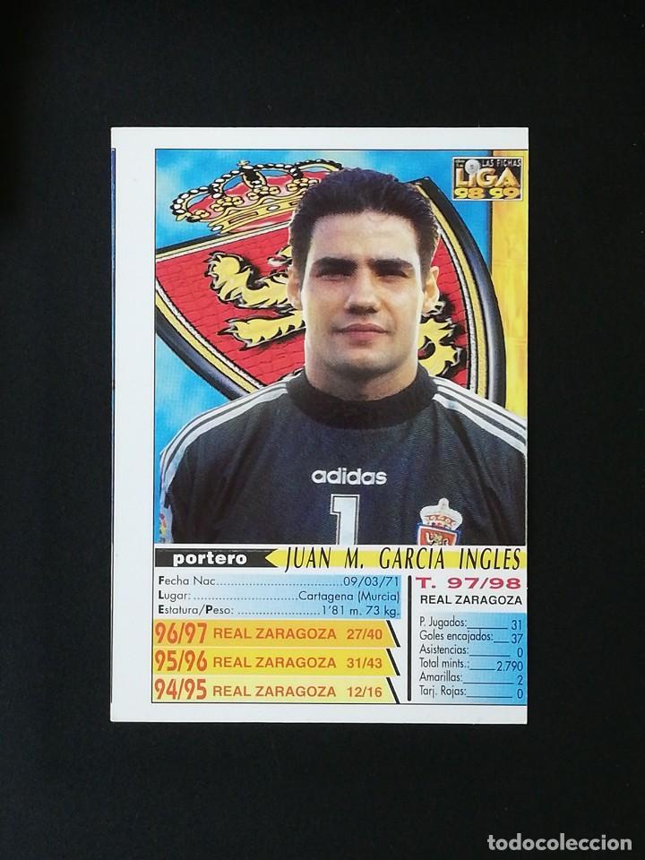 Cromos de Fútbol: #219 JUANMI REAL ZARAGOZA LAS FICHAS DE LA LIGA 98 99 MUNDICROMO 1998 1999 - Foto 2 - 269186208