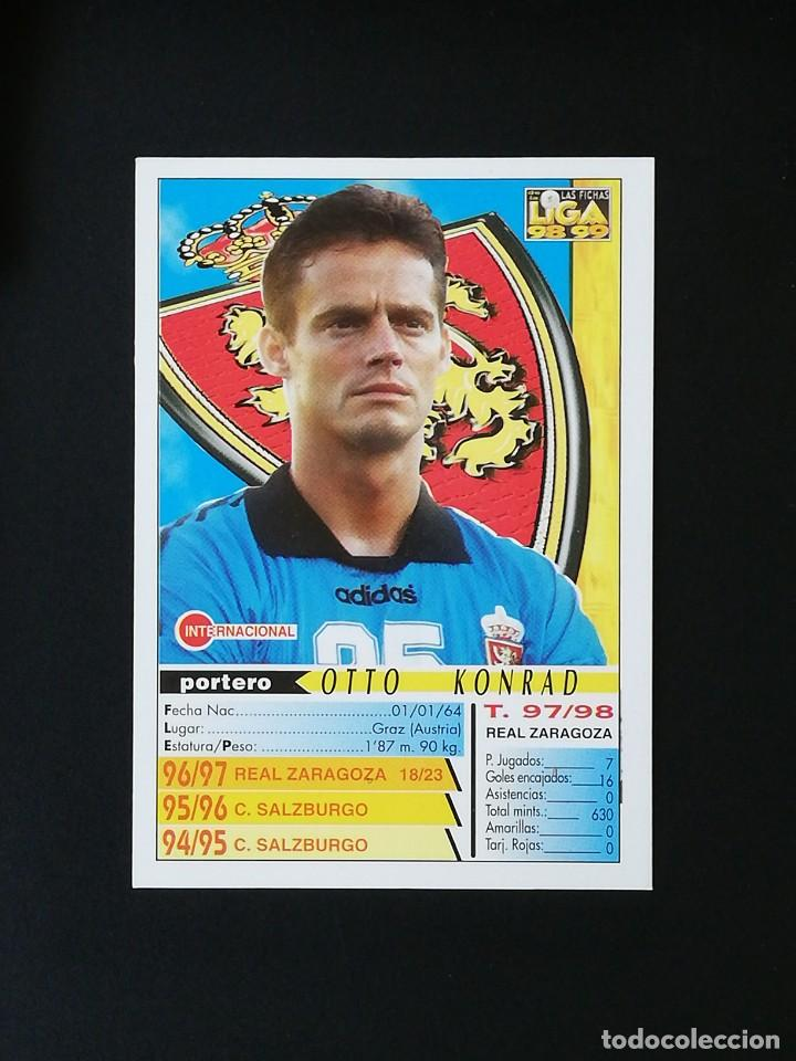 Cromos de Fútbol: #220 KONRAD REAL ZARAGOZA LAS FICHAS DE LA LIGA 98 99 MUNDICROMO 1998 1999 - Foto 2 - 269186233
