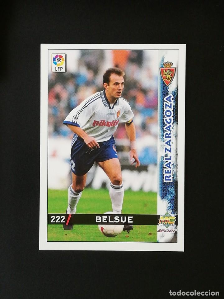 #222 BELSUE REAL ZARAGOZA LAS FICHAS DE LA LIGA 98 99 MUNDICROMO 1998 1999 (Coleccionismo Deportivo - Álbumes y Cromos de Deportes - Cromos de Fútbol)