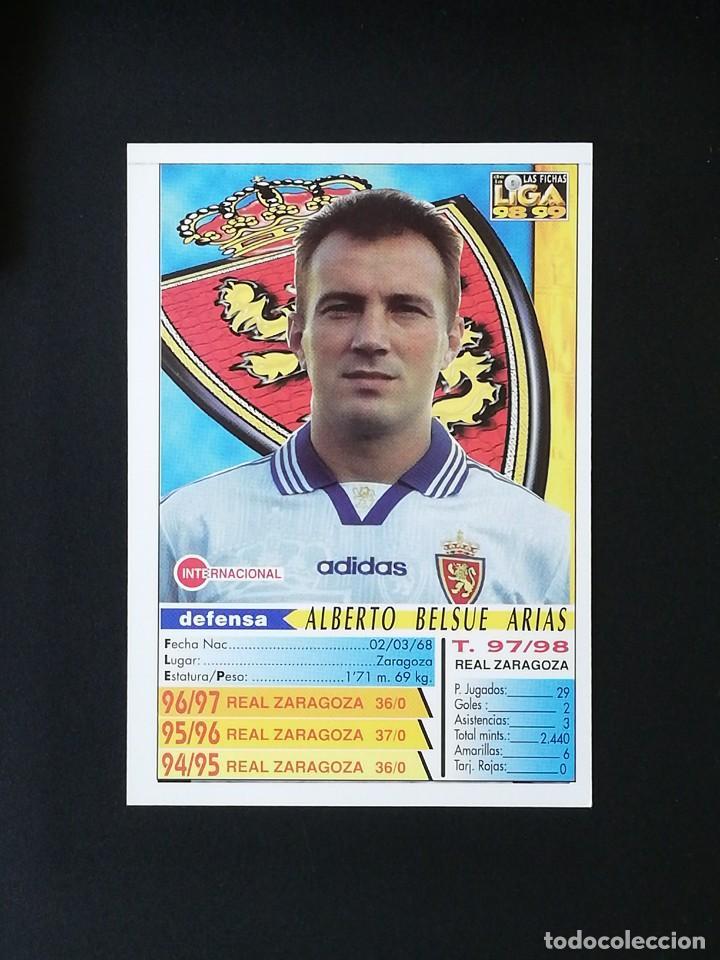 Cromos de Fútbol: #222 BELSUE REAL ZARAGOZA LAS FICHAS DE LA LIGA 98 99 MUNDICROMO 1998 1999 - Foto 2 - 269186268