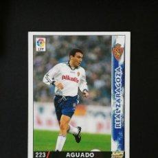 Cromos de Fútbol: #223 AGUADO REAL ZARAGOZA LAS FICHAS DE LA LIGA 98 99 MUNDICROMO 1998 1999. Lote 269186303