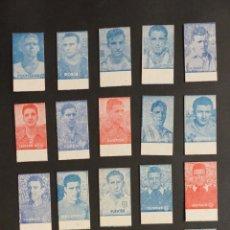 Cromos de Fútbol: 18 CROMOS DE FUTBOL, BASCULAS, CALZADOS GARCERA - AÑOS 1950 - TODOS DIFERENTES, VER FOTOS ADIC.. Lote 269201223