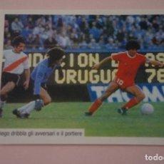 Cromos de Fútbol: CROMO DE FUTBOL IL PIU GRANDE MARADONA SIN PEGAR Nº 40 AÑO 2005 DE PREZIOSI COLLECTION. Lote 269286483