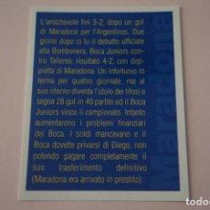 Cromos de Fútbol: CROMO DE FUTBOL IL PIU GRANDE MARADONA SIN PEGAR Nº 41 AÑO 2005 DE PREZIOSI COLLECTION. Lote 269286528