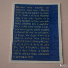 Cromos de Fútbol: CROMO DE FUTBOL IL PIU GRANDE MARADONA SIN PEGAR Nº 54 AÑO 2005 DE PREZIOSI COLLECTION. Lote 269286848