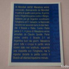 Cromos de Fútbol: CROMO DE FUTBOL IL PIU GRANDE MARADONA SIN PEGAR Nº 56 AÑO 2005 DE PREZIOSI COLLECTION. Lote 269286928