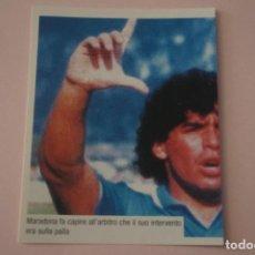 Cromos de Fútbol: CROMO DE FUTBOL IL PIU GRANDE MARADONA SIN PEGAR Nº 118 AÑO 2005 DE PREZIOSI COLLECTION. Lote 269289243
