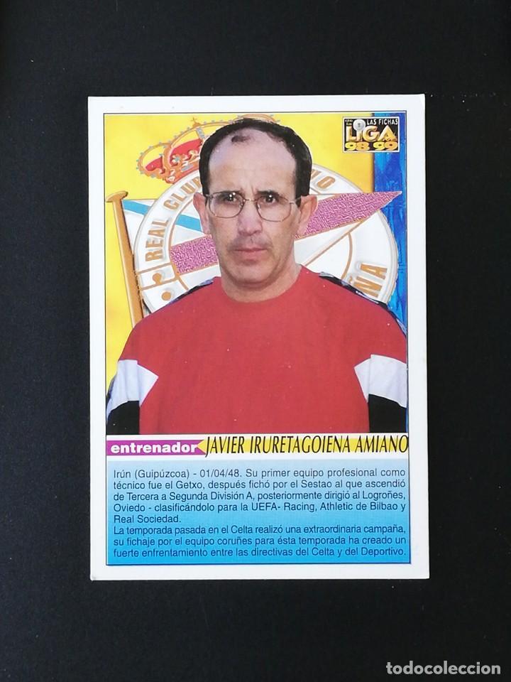 Cromos de Fútbol: #200 IRURETA RCD DEPORTIVO LAS FICHAS DE LA LIGA 98 99 MUNDICROMO 1998 1999 - Foto 2 - 269183563