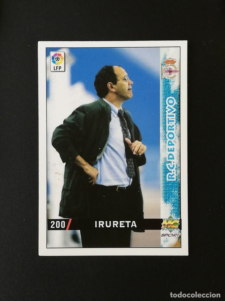 #200 IRURETA RCD DEPORTIVO LAS FICHAS DE LA LIGA 98 99 MUNDICROMO 1998 1999 (Coleccionismo Deportivo - Álbumes y Cromos de Deportes - Cromos de Fútbol)