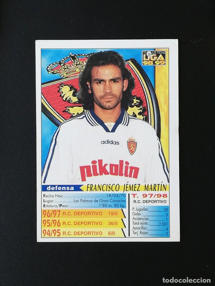 Cromos de Fútbol: #225 PACO REAL ZARAGOZA LAS FICHAS DE LA LIGA 98 99 MUNDICROMO 1998 1999 - Foto 2 - 269186388