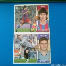 Cromos de Fútbol: MESSI Y CASILLAS DEL ALBUM LIGA ESTE 2006/07. Lote 269397833